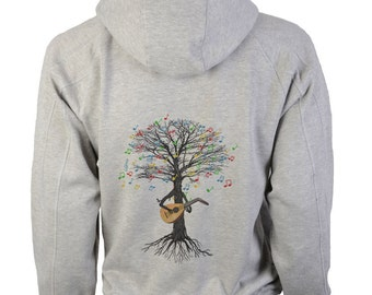 Lute Hoody Musical Tree Luthier in sizes up to XXL