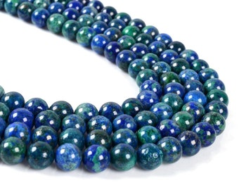 "8MM23 8mm Lapis chrysocolla round ball loose gemstone beads 16"""