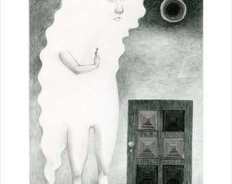 Limited Edition Print A4 size - The door and the key 1/50