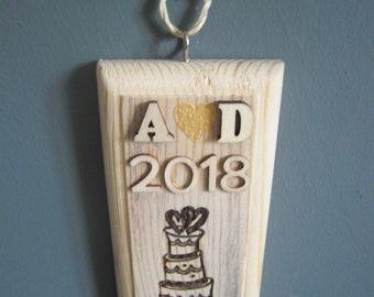 Wedding year sign