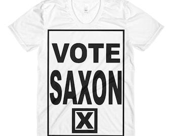 Vote Saxon The Master Sublimation women's crew neck t-shirt