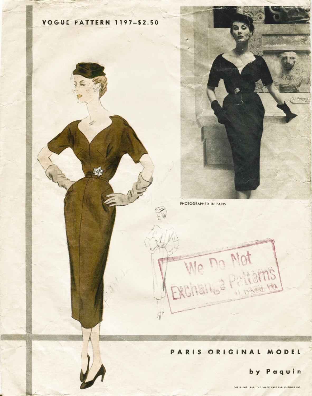 1950er Jahre 50er Jahre Vintage Schnittmuster cocktail wackeln