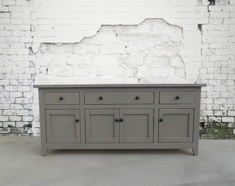 Media Console, Sideboard, Buffet, Reclaimed Wood, Console Table, Handmade