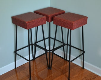 1950s Atomic Bar Stool Trio