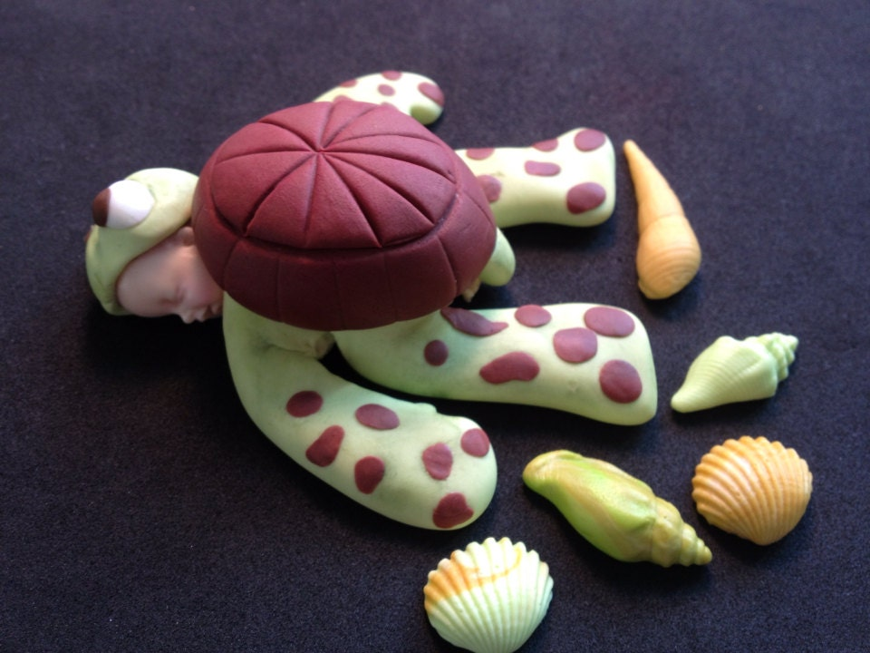 Fondant Baby Squirt Of Finding Nemo Cake Topper Baby Shower