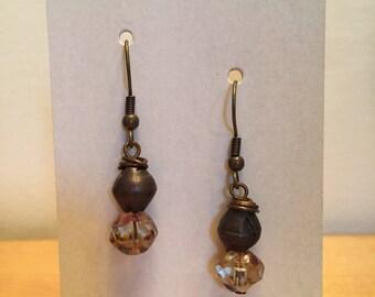Glass & Brass Earrings