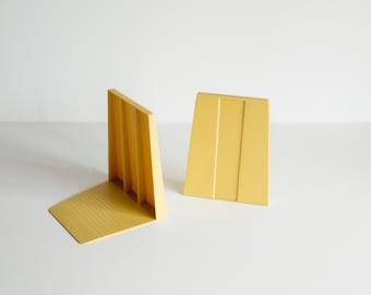 Demco Yellow Melamine Bookends