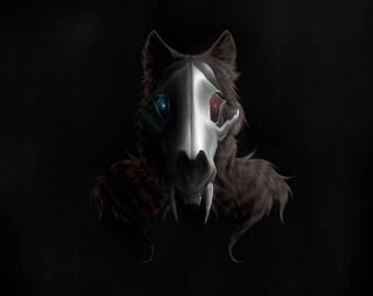 "Wolf Demon Art Print | Matte Finish | 5"" x 7"""