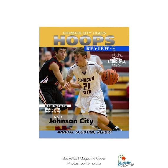 Plantilla de baloncesto portada de la revista Photoshop de ...