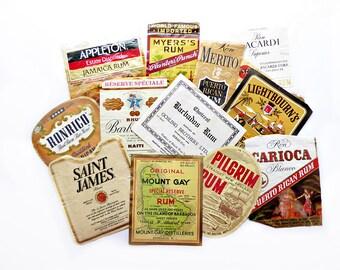 12 Rum Labels