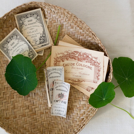 French Perfume Labels - Set of 3