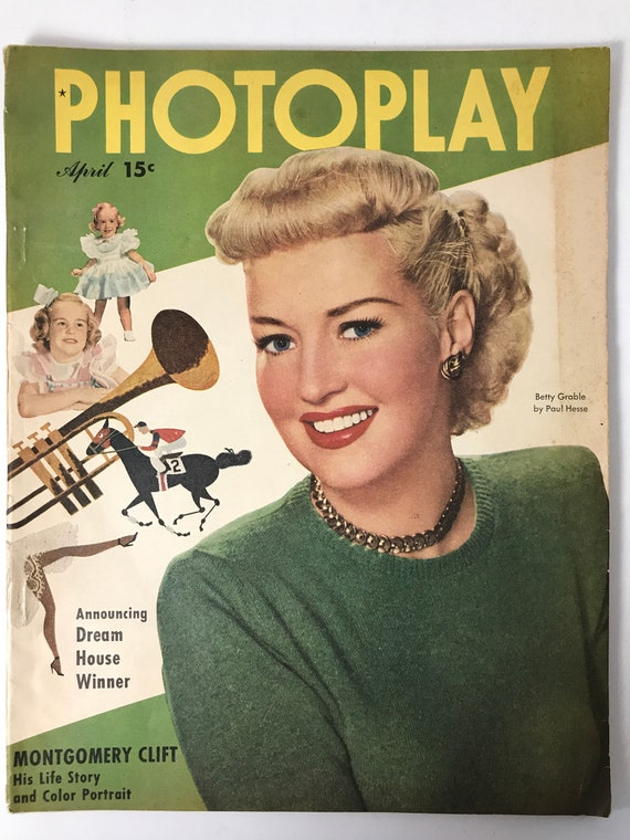 Photoplay April 1949 - Cover Betty Grable