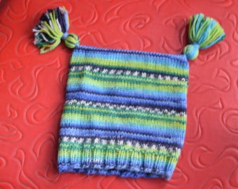 Adorable Toddler Striped Tassel Hat - fits newborns to 2-years