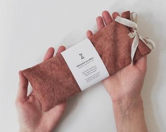 Flax seeds lavender pillow, Linen eye pillow, Yoga meditation prop, Aromatherapy eye cover, Natural sleep aid, Zero waste organic, Self care