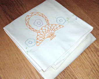 Vintage Hand Embroidered Pillowcase