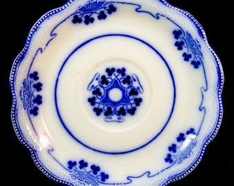 Antique 'Lorne' Flow Blue Saucer by W H Grindley & Co, c. 1891