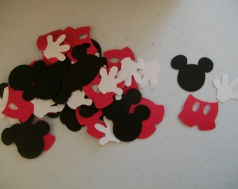 Mickey Mouse Party Confetti -  Mickey Mouse Birthday Confetti