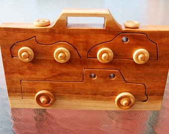 Car Caddy Wooden Toy