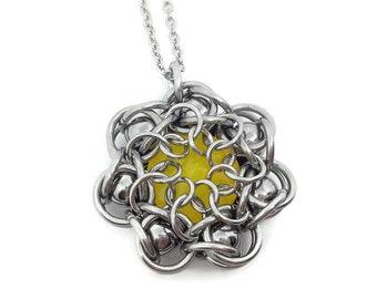 Unique Pendant/Crystal Necklace/Pendant and Chain/Pendant Necklace/Stainless Steel Necklace/Swarovski Pendant/Swarovski Crystal Necklace
