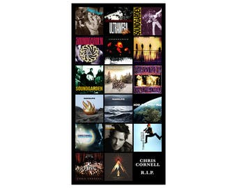 """CHRIS CORNELL album discography magnet (3.5"""" x 6"""") soundgarden temple of the dog"""