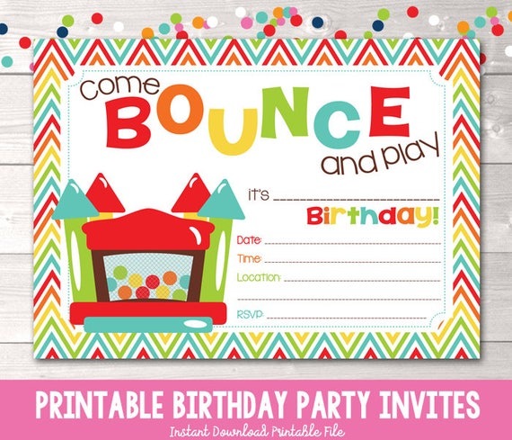 download birthday party invitations