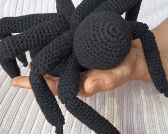 Black Spider Amigurumi Toy - Spider Crochet Pattern PDF - Amigurumi Pattern