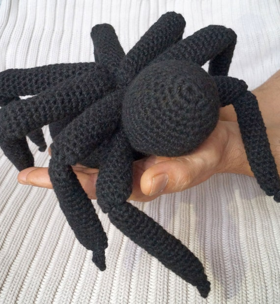 Black Spider Amigurumi Toy Spider Crochet Pattern Pdf Amigurumi