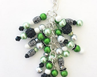 Gorgeous Green Chunky Planner Charm - Planner Accessories, Purse Charm, Zipper Pull, Chunky Travelers Notebook Charm