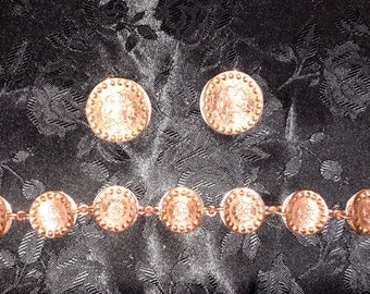 gret barkin free shipping hand made copper bracelet and earring set new hope pa