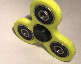Fidget Spinner / Fidget Toy / Hand Spinner / Tri-Spinner / Gray on Red