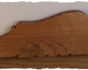 Wooden Hippos
