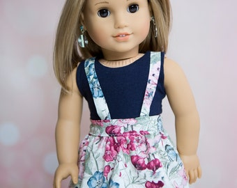 18 Inch Doll Suspenders Skirt American Girl Clothes