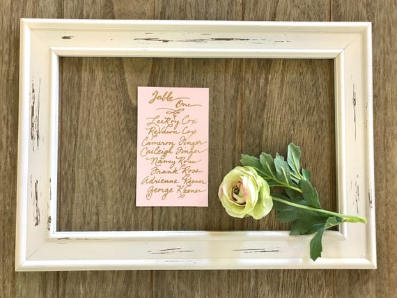 Handwritten Wedding Seating Chart Cards & Find Your Seat Header Card / for Weddings/Showers - Place cards also available