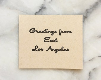Greetings From East Los Angles, set of 4 cards with envelopes