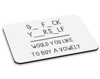 Go Fck Yourself PC Computer Mouse Mat Pad