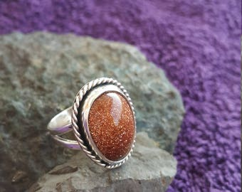 Star Stone Ring Handmade & Silver