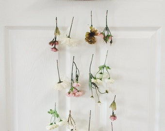 Spring Colours Everlasting Boho Floral & Driftwood Wall Hanging