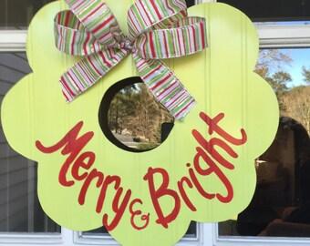 Merry & Bright Christmas Wreath