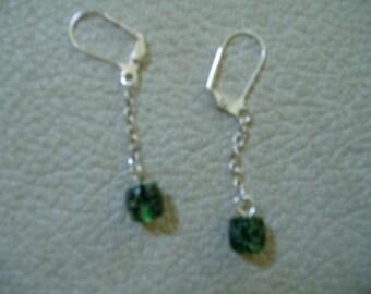Seaweed  Glass Earrings