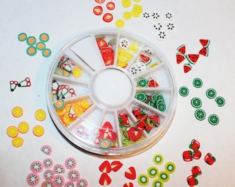 Fruit Nail Art Wheel, Fruit Cane Slices 144pcs, Sassy, Classy, Nail Art