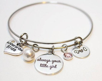 mother of the bride jewelry, mother of the bride bracelet, mother of the bride gift, mother of the bride bangle, mother of the bride set