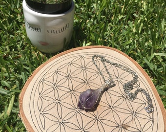 Amethyst Chakra Point Necklace