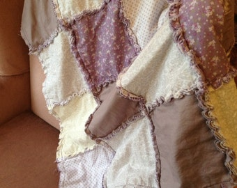 Custom Rag Quilt - 40x50 Inches. Made to order.