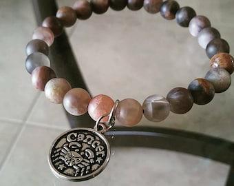 Zodiac Charm Moonstone Bracelet