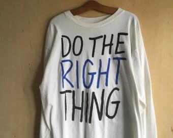 "1993 ""Do the Right Thing"" Long Sleeve T-Shirt XXL"