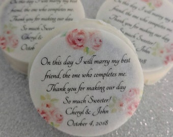 Personalized custom printed edible Oreos 2 pack wedding favors boxed.