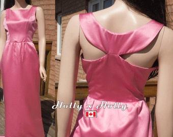 pink bridesmaid dress, Breakfast at tiffany dress, Audrey hepburn dress, vintage dress inspired