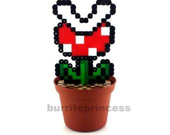 Piranha Plant - Potted Piranha Plant - Super Mario Plant - Super Mario Decoration - Video Game Decoration - Mario Planter - Mario Wedding