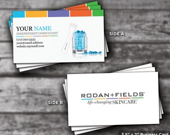 Rf business card etsy rodan and fields rodan fields printable rodan and fields business cards rf rf consultant multi color digital file reheart Gallery