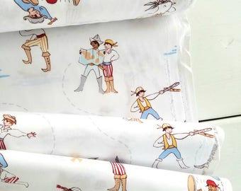 The Best of Sarah Jane - A Pirate's Life(White Background/Blue) - Sarah Jane - Michael Miller Fabrics
